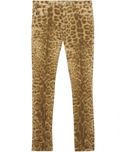 Burberry jean droit à motif léopard