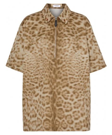 Burberry chemise à imprimé léopard