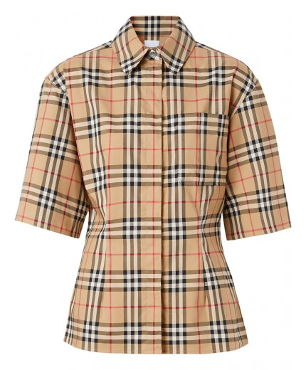 Burberry chemise à manches courtes à carreaux