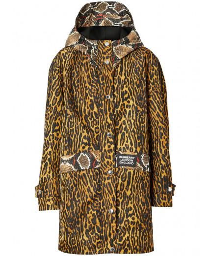 Burberry manteau imprimé à capuche