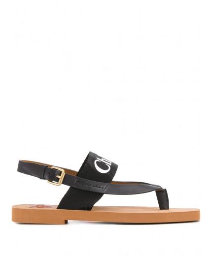 Chloé sandales Woody à logo