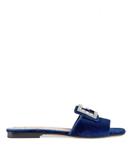 Gucci sandales en velours à boucle G en cristal