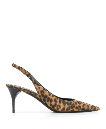 Saint Laurent escarpins à motif léopard