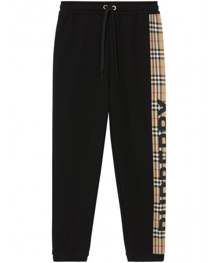 Burberry pantalon de jogging à empiècement Vintage Check