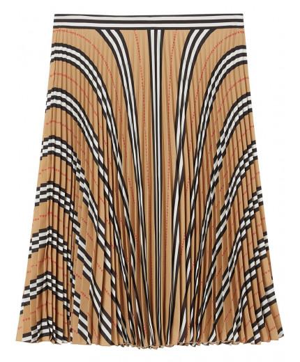 Burberry jupe plissée à carreaux Icon Stripe