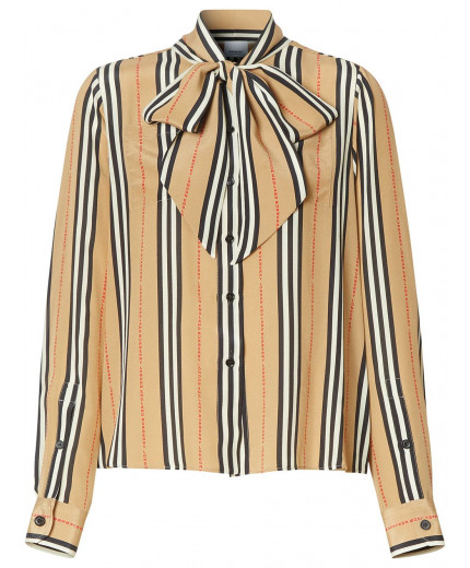Burberry blouse Icon Stripe à col lavallière
