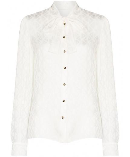 Dolce & Gabbana blouse monogrammée à col noué