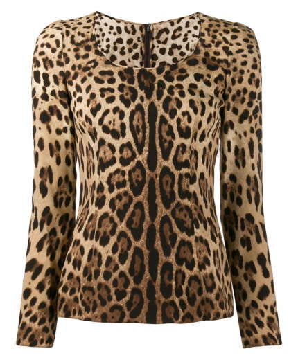 Dolce & Gabbana blouse à imprimé léopard