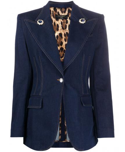 Dolce & Gabbana blazer droit en jean
