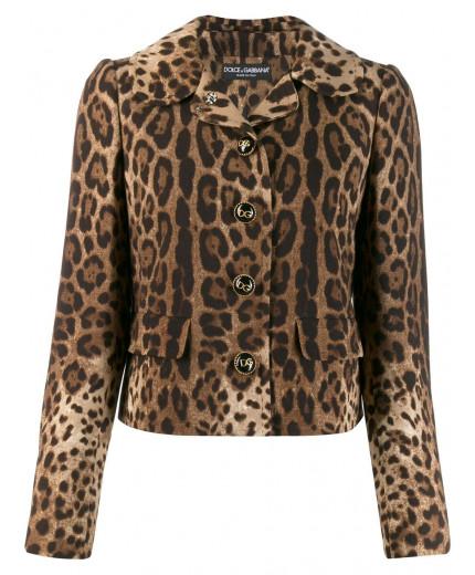 Dolce & Gabbana veste à imprimé léopard