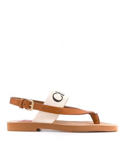 Chloé sandales à logo imprimé
