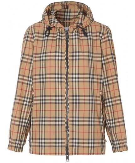 Burberry veste à capuche à carreaux vintage