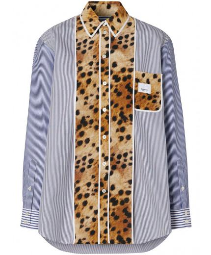 Burberry chemise à imprimé graphique